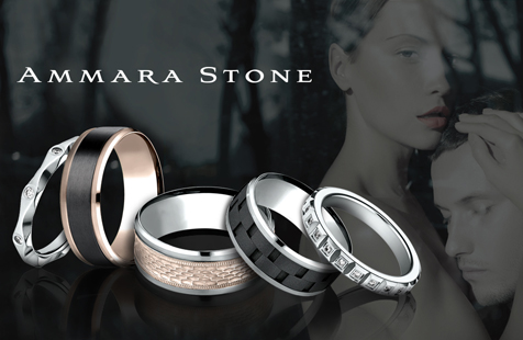 Designer Wedding Bands - Benchmark, Ammara Stone